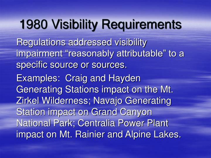 1980 Visibility Requirements
