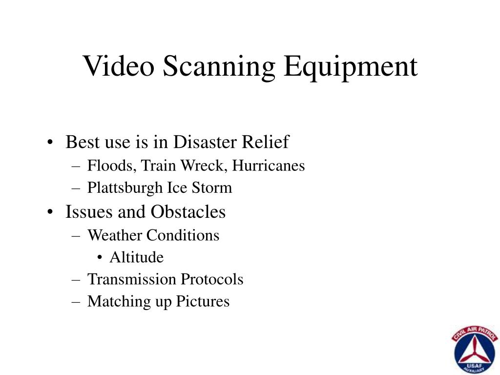 Video Scanning Equipment