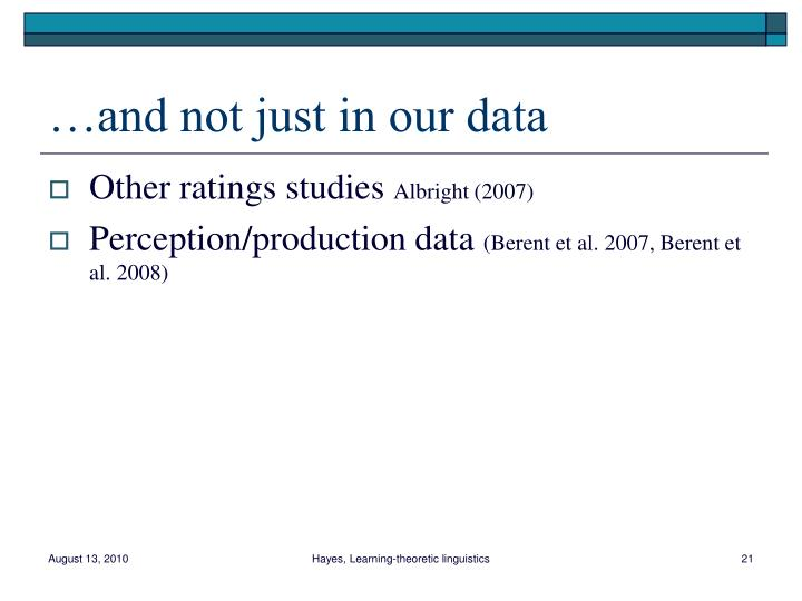 …and not just in our data