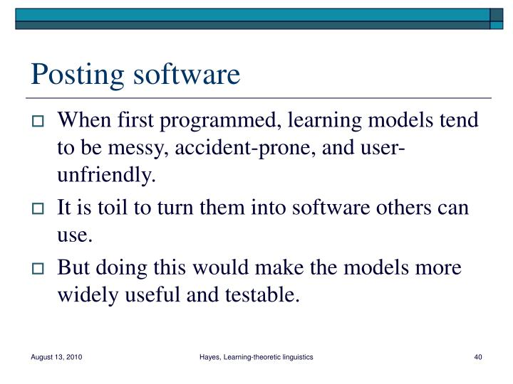 Posting software
