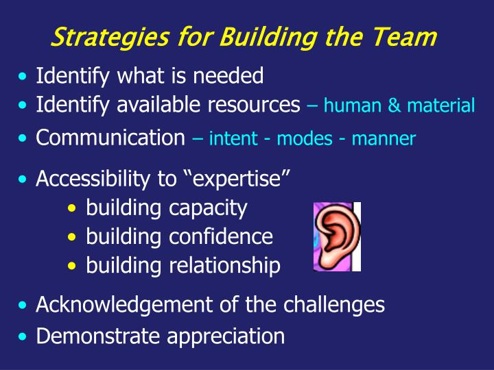 Strategies for Building the Team