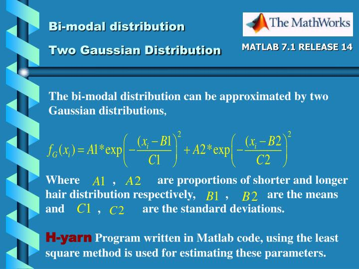 Bi-modal distribution
