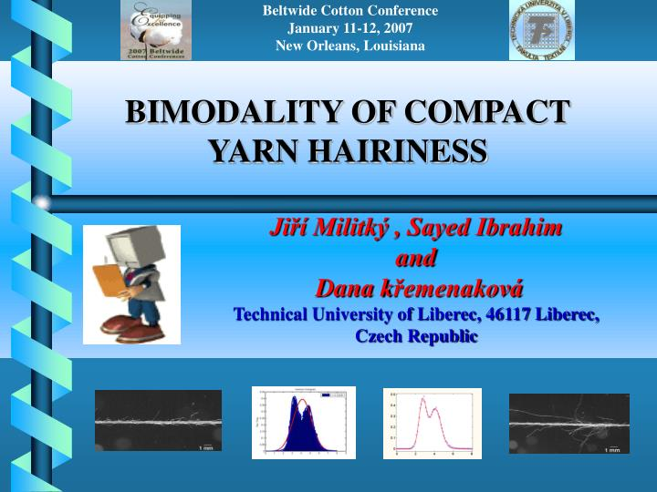 Bimodality of compact yarn hairiness