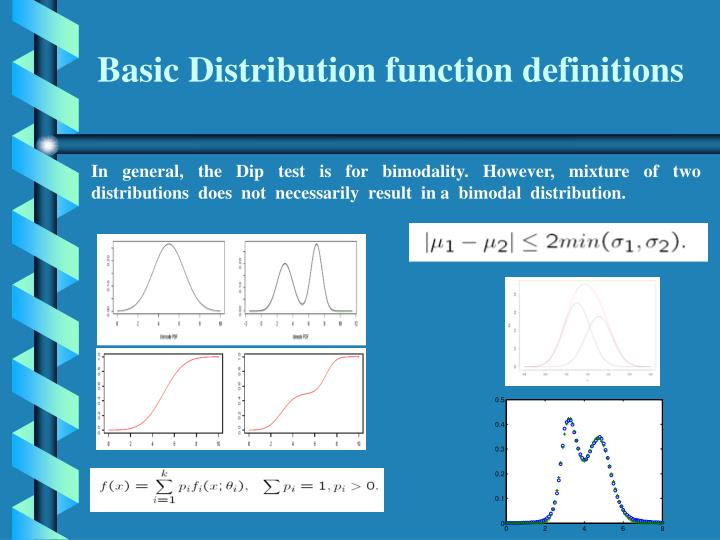 Basic Distribution function definitions