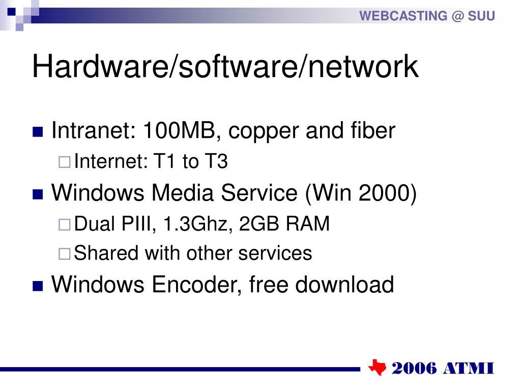 Hardware/software/network