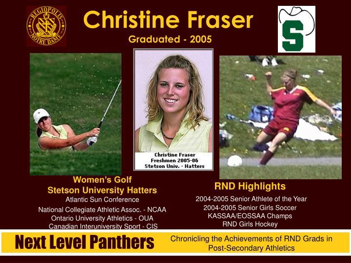 Christine Fraser