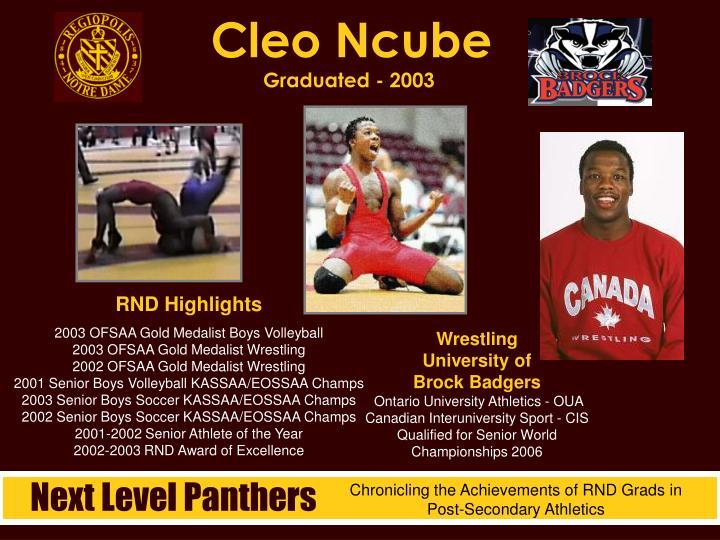 Cleo Ncube