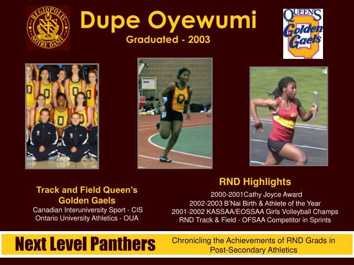 Dupe Oyewumi