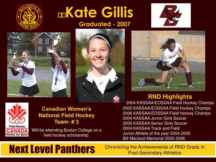 Kate Gillis