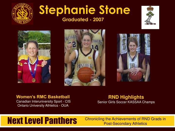Stephanie Stone