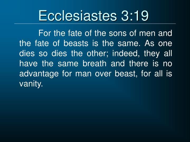 Ecclesiastes 3:19