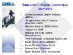 education events committee members