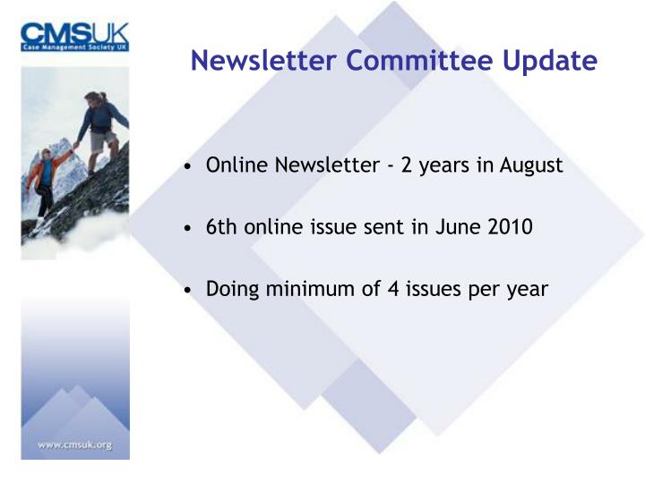 Newsletter Committee Update