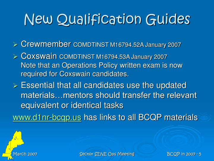 New Qualification Guides