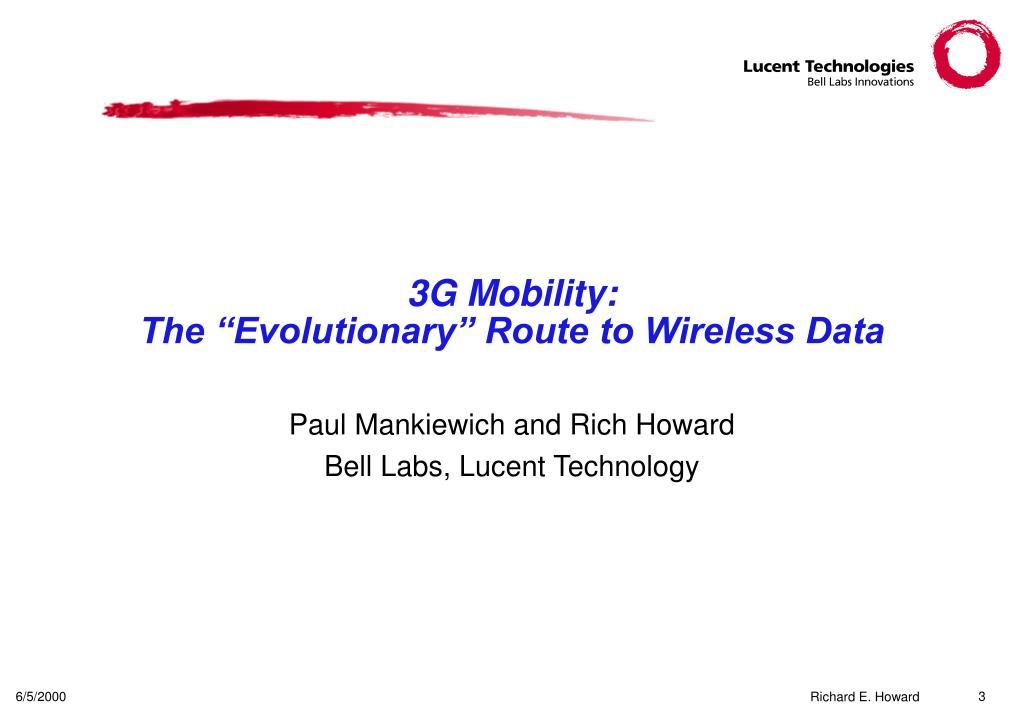 3G Mobility: