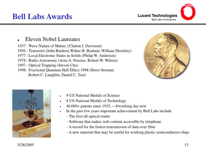 Bell Labs Awards