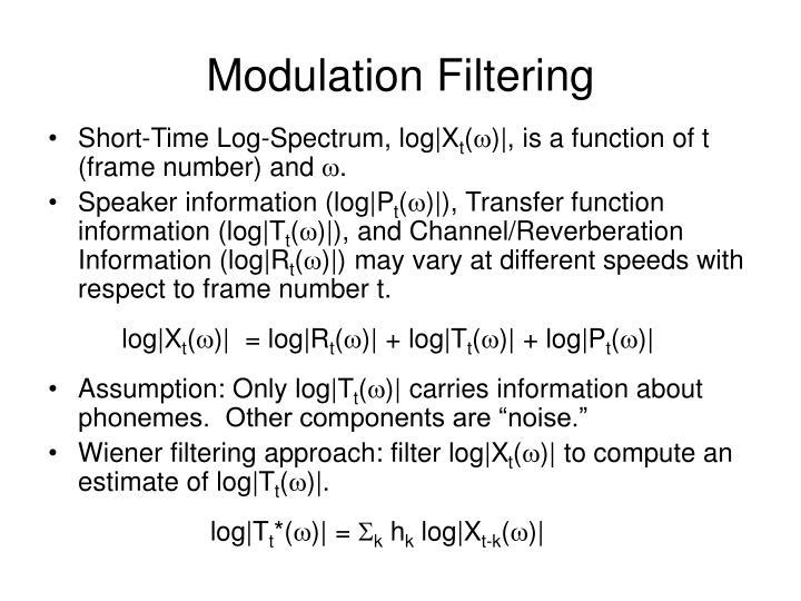 Modulation Filtering