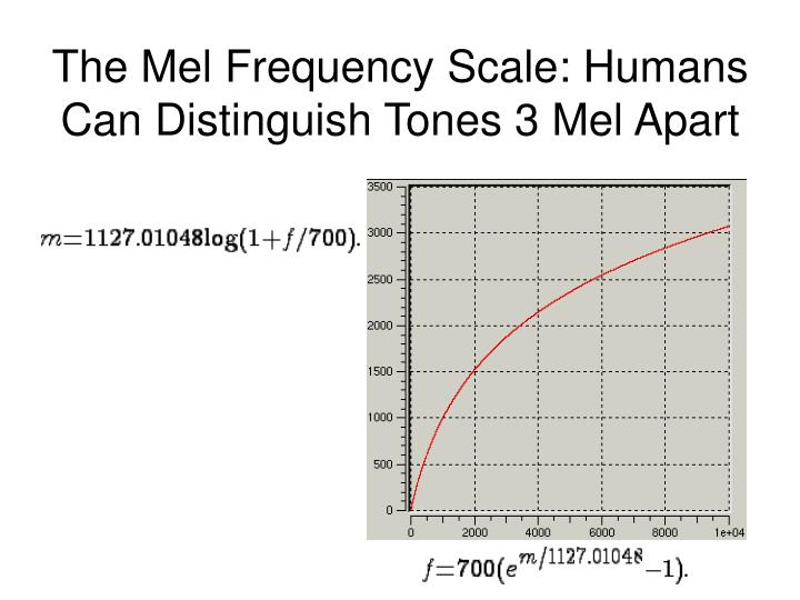 The Mel Frequency Scale: Humans Can Distinguish Tones 3 Mel Apart