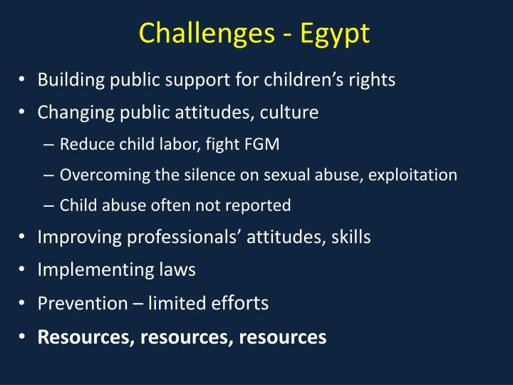 Challenges - Egypt