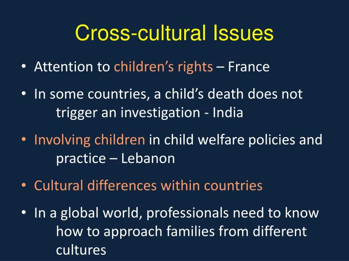 Cross-cultural Issues