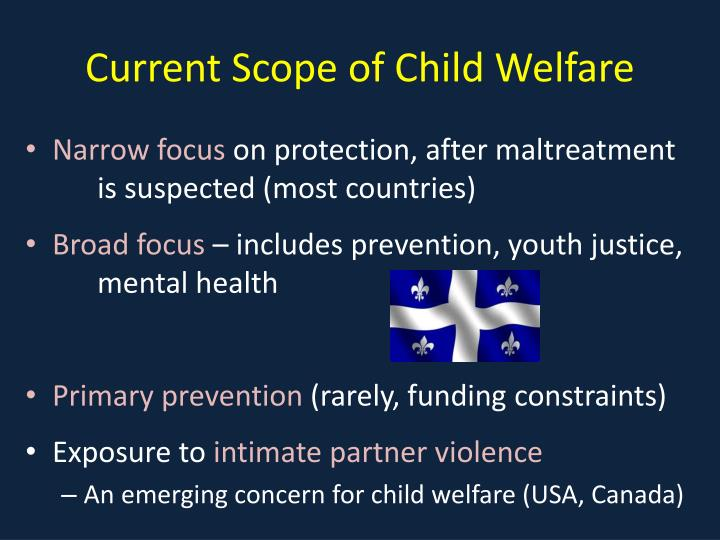Current Scope of Child Welfare