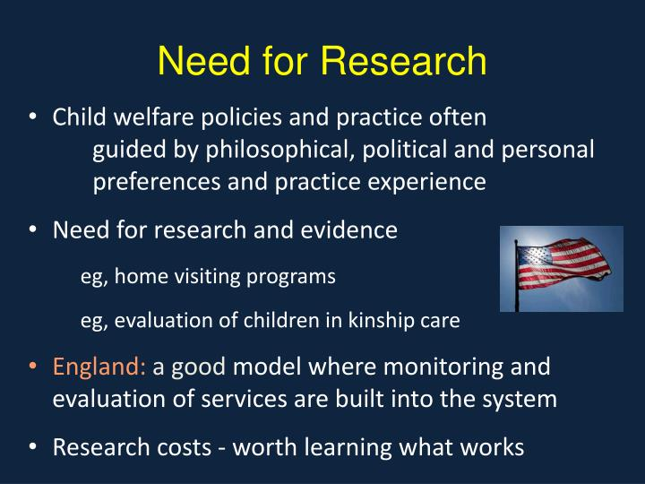 Need for Research