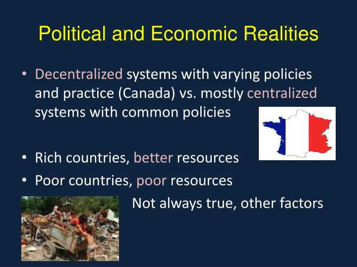 Political and Economic Realities