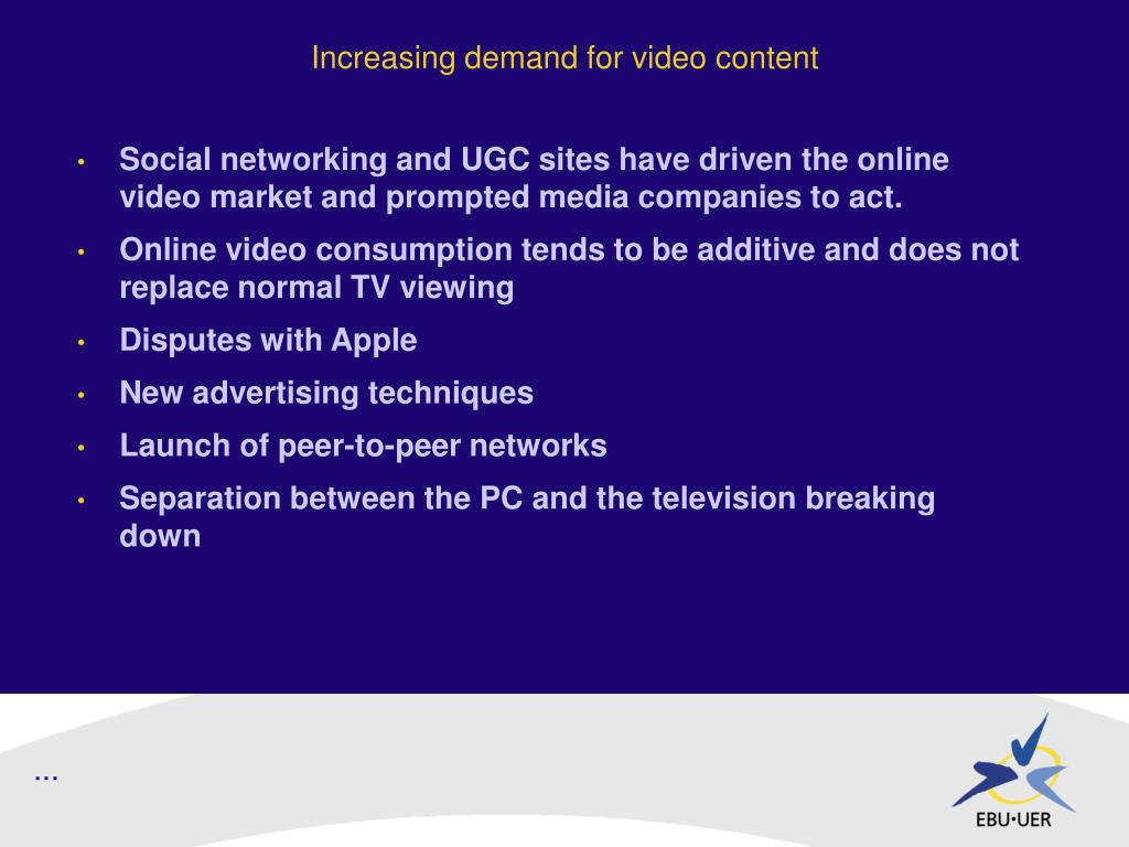 Increasing demand for video content