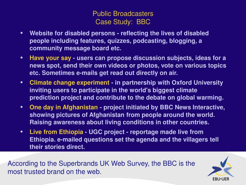 Public Broadcasters