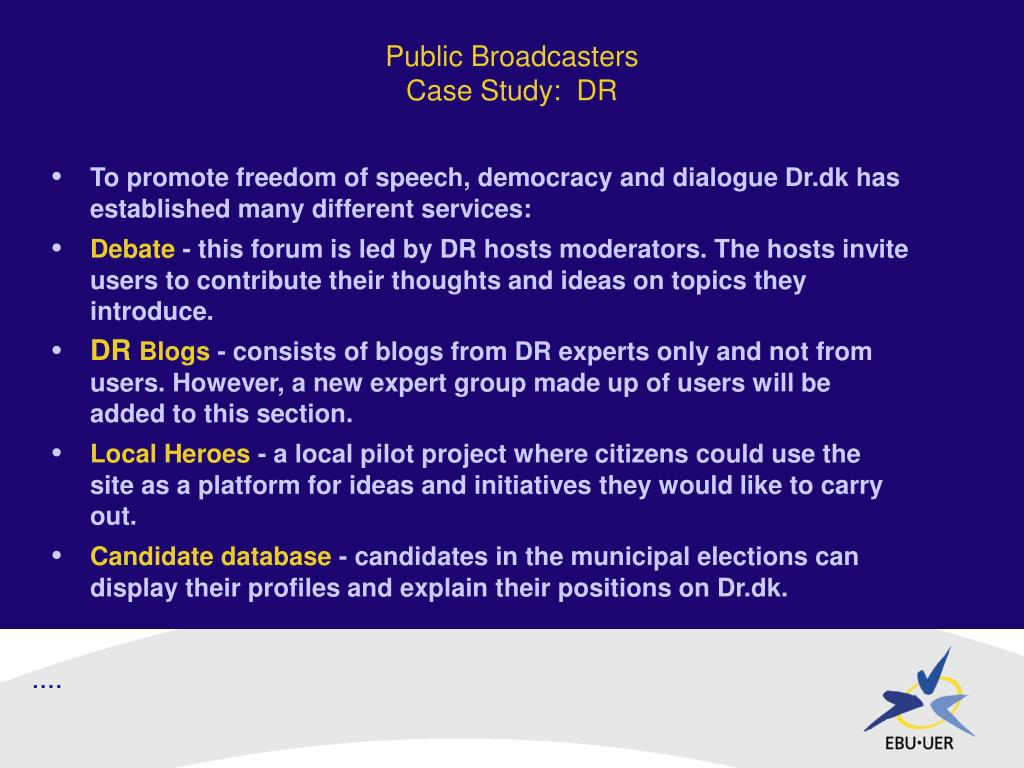 Public Broadcasters