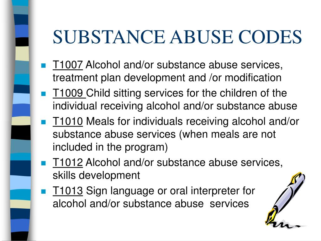 SUBSTANCE ABUSE CODES
