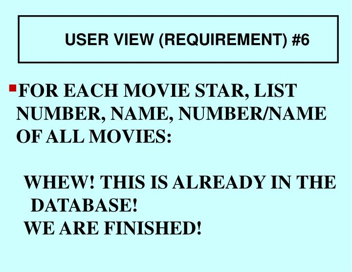 FOR EACH MOVIE STAR, LIST NUMBER, NAME, NUMBER/NAME OF ALL MOVIES: