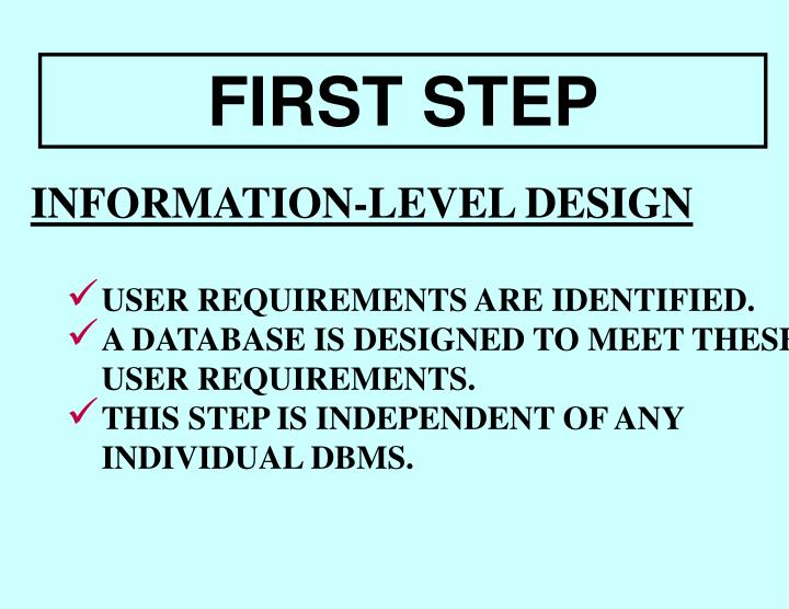 INFORMATION-LEVEL DESIGN