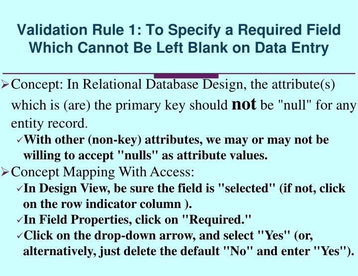 Concept: In Relational Database Design, the attribute(s) which is (are) the primary key should