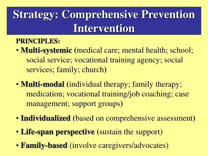 Strategy: Comprehensive Prevention Intervention