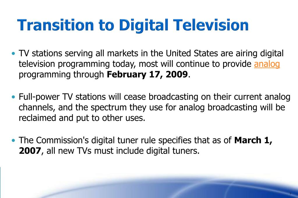 Transition to Digital Television