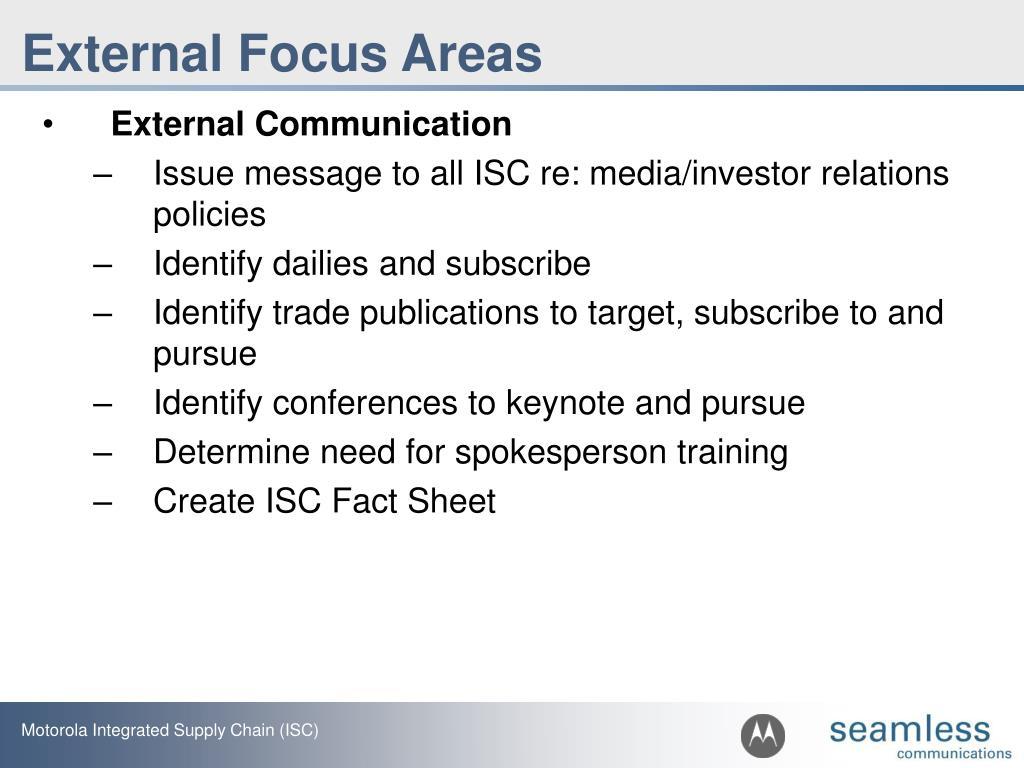 External Focus Areas