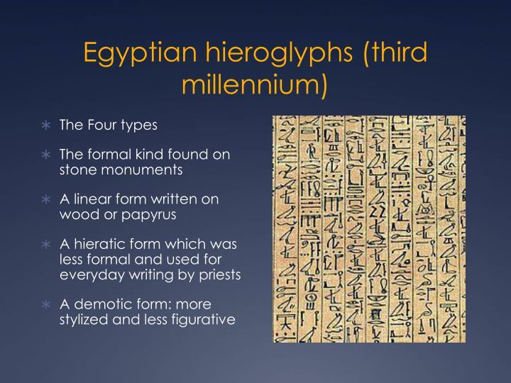 Egyptian hieroglyphs (third millennium)