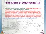 the cloud of unknowing 3
