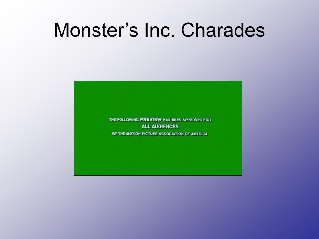 Monster's Inc. Charades