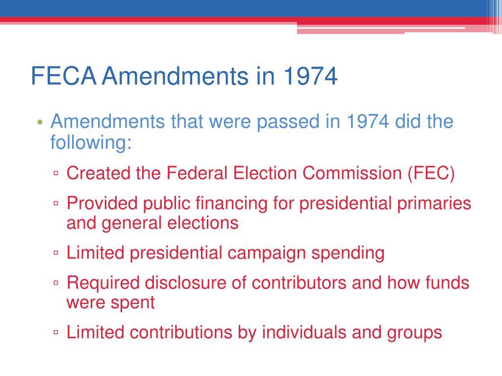 FECA Amendments in 1974