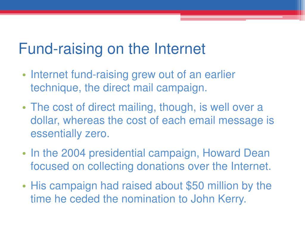 Fund-raising on the Internet