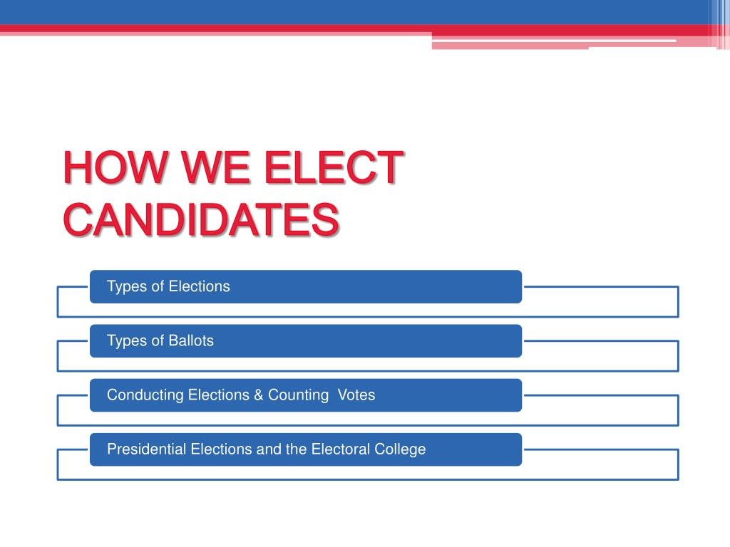 HOW WE ELECT CANDIDATES