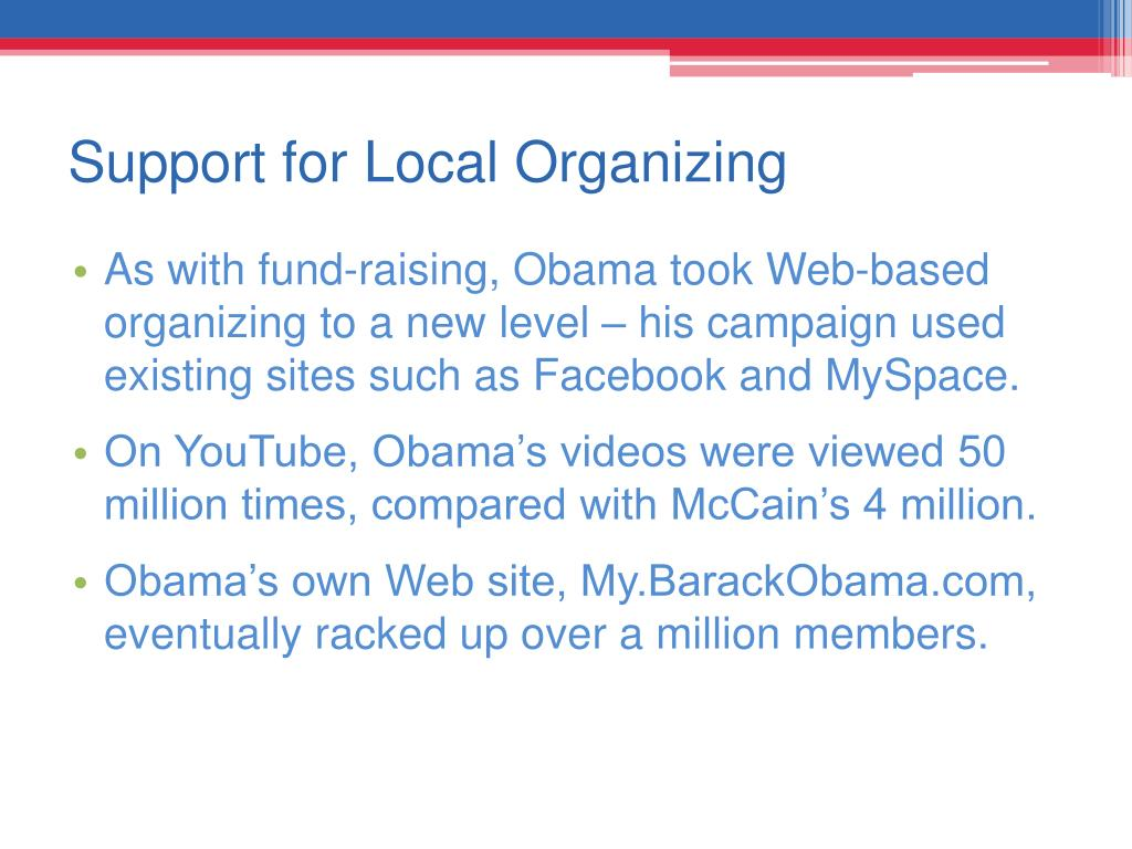 Support for Local Organizing