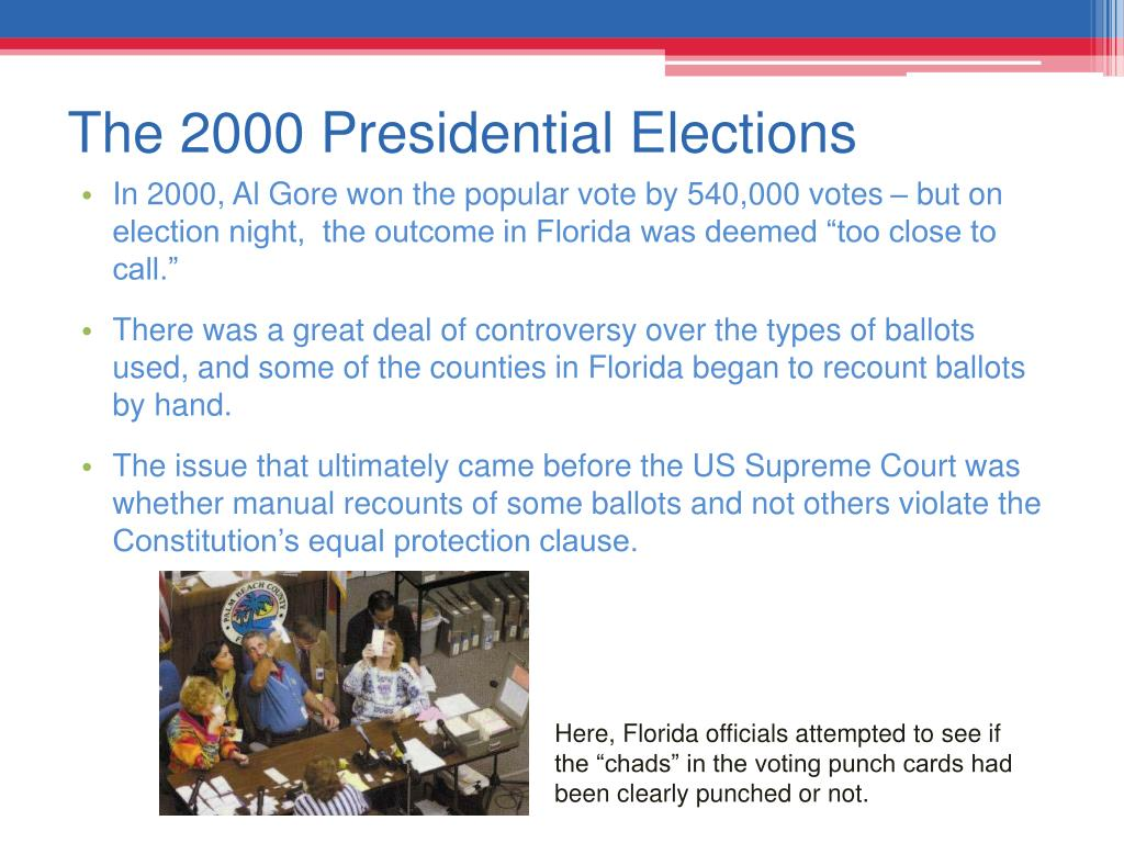 The 2000 Presidential Elections