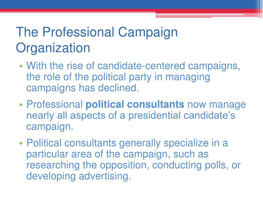 The Professional Campaign Organization