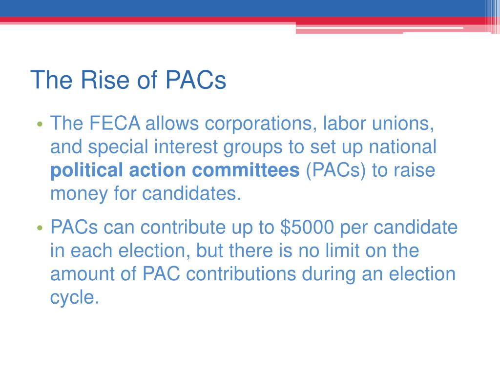 The Rise of PACs