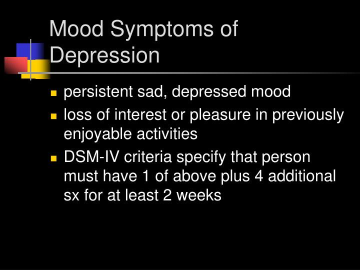 Mood Symptoms of Depression