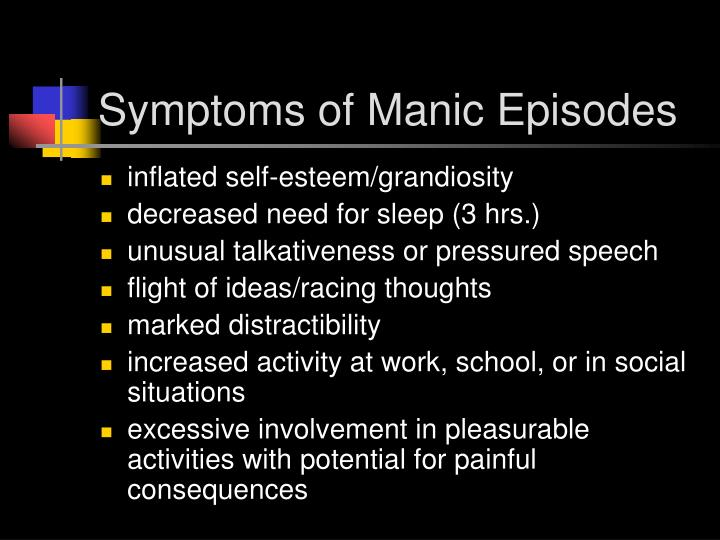 Symptoms of Manic Episodes