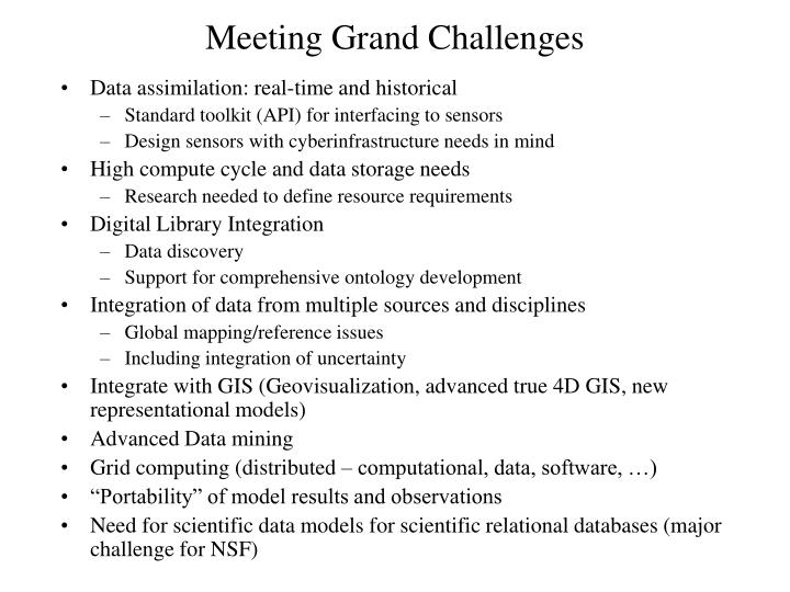 Meeting grand challenges